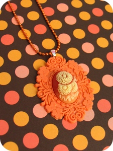 Pumpkin Daisy Baroque Costume Necklace