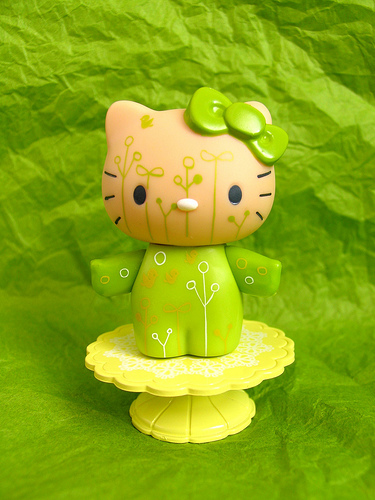 Green Hello Kitty Front