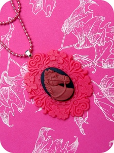 Magenta Stallion Baroque Costume Necklace