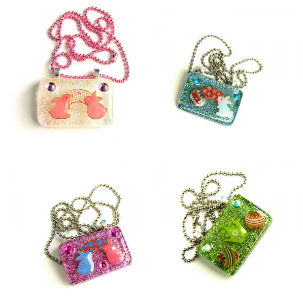Far Easter Resin Necklaces