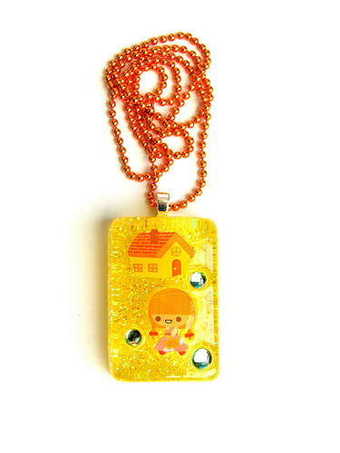 Wizard of Oz Resin Necklace