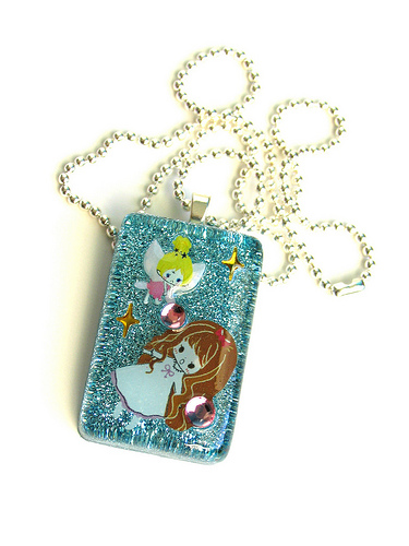 Tink Attack Resin Necklace