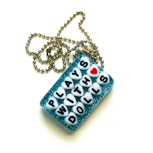 Custom Plays With Dolls Necklace