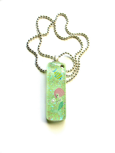 Custom Mermaid Resin Necklace