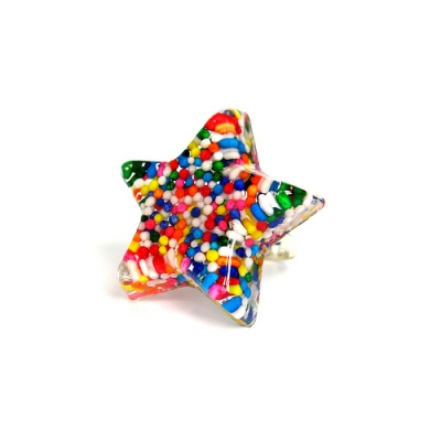 Resin Candy Star Ring