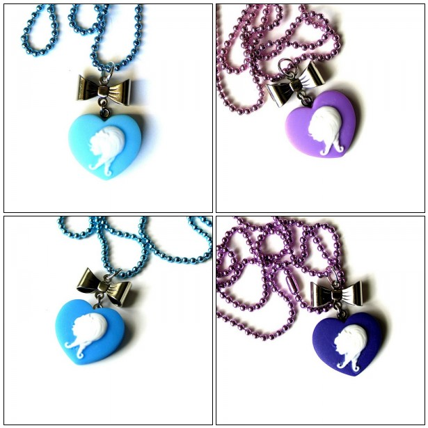 Sweet Heart Cameo Necklaces