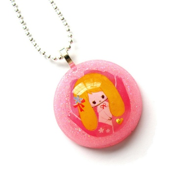 Pink Thumbelina Necklace