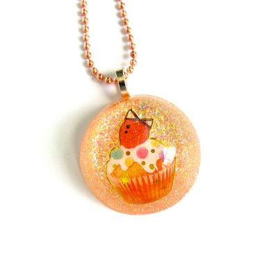 Resin Cupcake Necklace