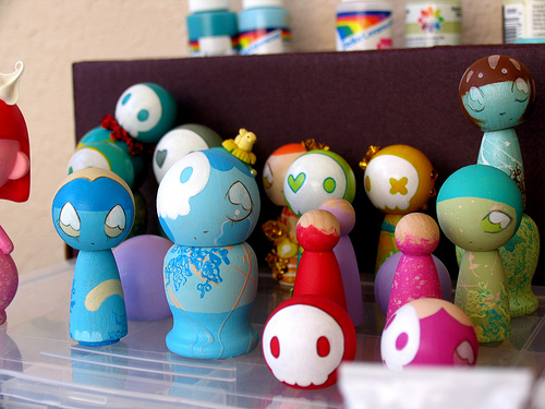 Kokeshi in the Studio