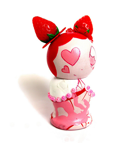 Miss Strawberry Kokeshi