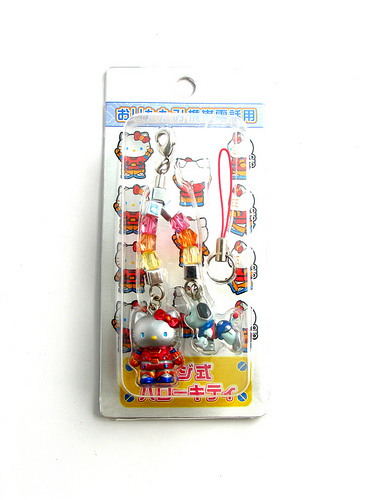 Robo Hello Kitty Netsuke