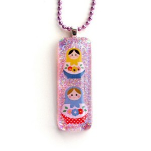 Matryoshka Resin Necklace