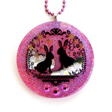 Bunny Resin Necklace