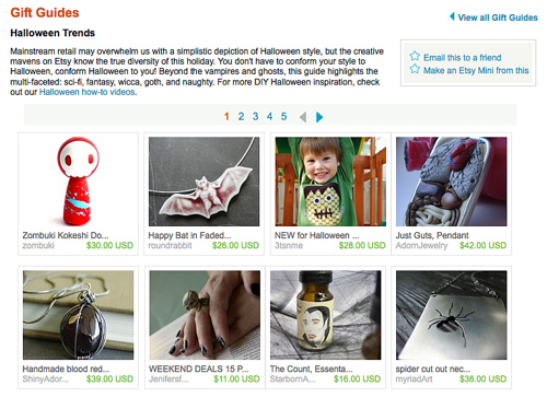 Halloween Gift Guide Feature on Etsy