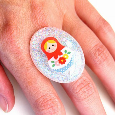 Nesting Doll Resin Ring
