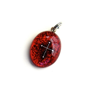 Red Cross Resin Charm