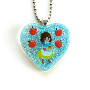 Snow White Resin Necklace