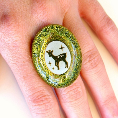 Deer Resin Ring