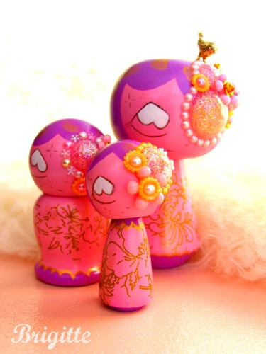 Kokeshi 33-35 the Luxe Family
