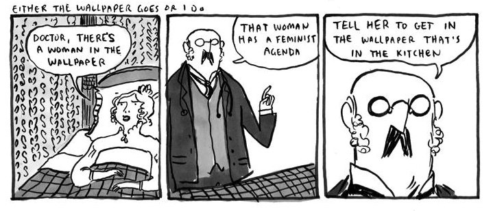 The Yellow Wallpaper By Kate Beaton Hark A Vagrant Ms