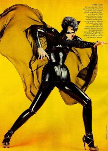 Dolce and Gabbana Catwoman for Vogue