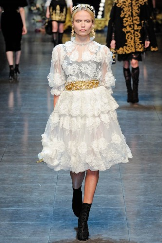 Dolce & Gabbana Fall 2012 Look 8