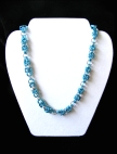 Sky Blue Chainmail Necklace