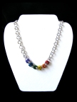 Gay Pride Chainmail Accent Necklace
