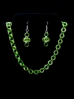 Green Chainmail Jewelry Set