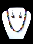 Gay Pride Chainmail Jewelry Set