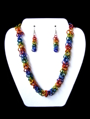 Gay Pride Chainmail Jewelry Set - Shag