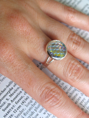 Dragon Scale Ring - Clear Water