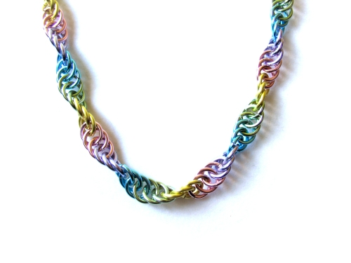 Pastel Chainmail Necklace