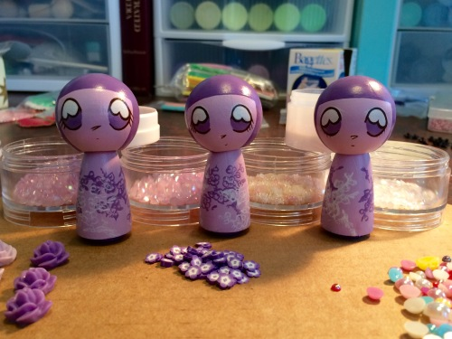 Lavender Kokeshi, the Before Picture