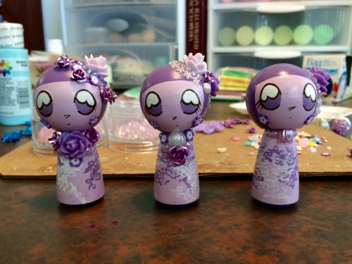Lavender Kokeshi, the After Picture