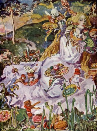 Goblin Market by Christina Rossetti Illustrated by Dion Clayton Calthrop